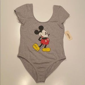 NWT Forever 21 Disney Mickey Mouse Bodysuit M
